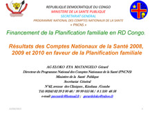 Family Planning Presentation in Kinshasa DRC - PNCNS.