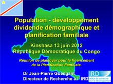 Family Planning Presentation in Kinshasa DRC - IRD.