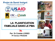 Family Planning Presentation in Kinshasa DRC - Prosani.