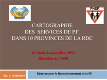 Family Planning Presentation in Kinshasa DRC - PNSR.